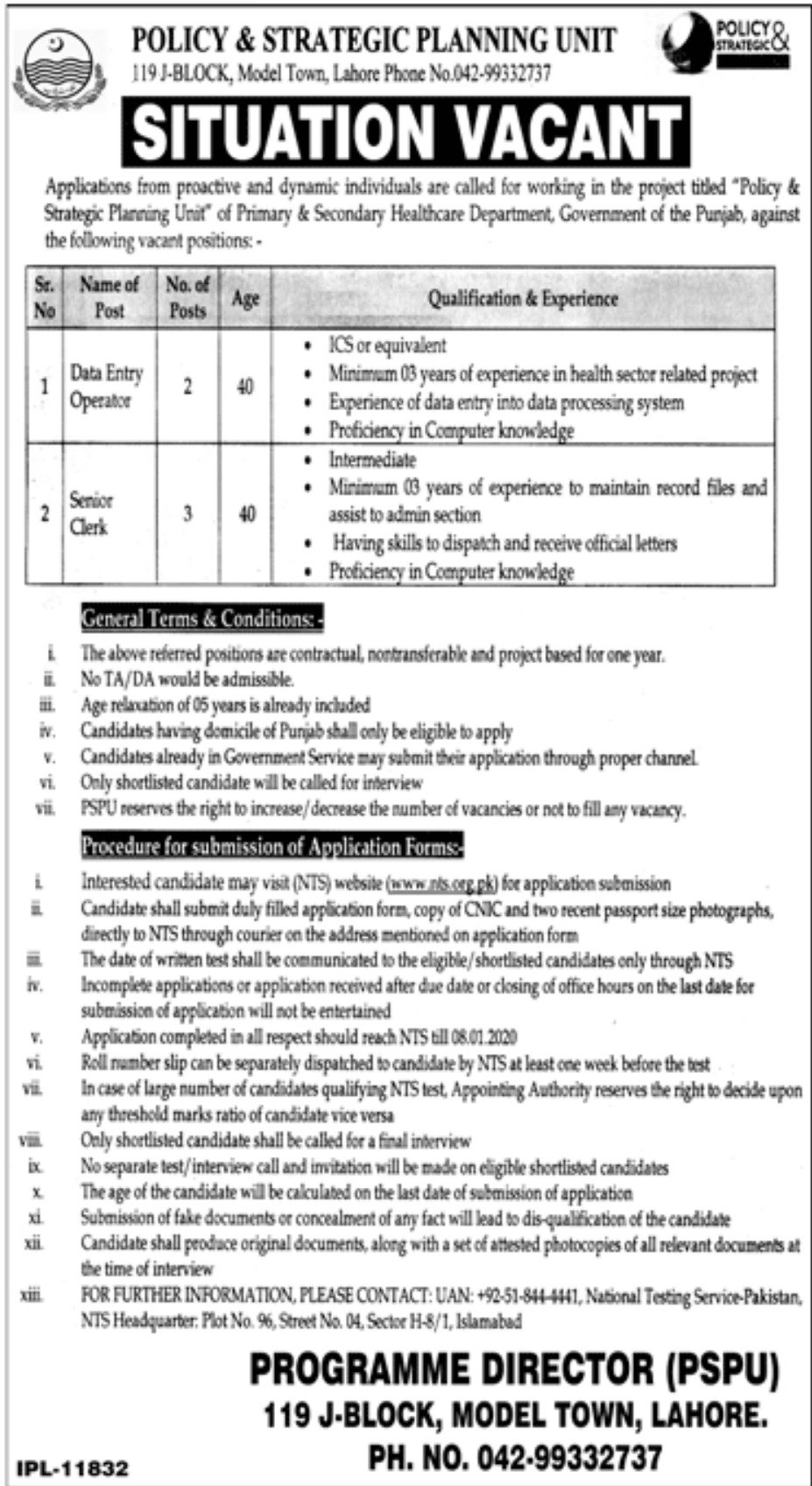 Policy and Strategy Planning Unit PSPU Jobs NTS Answer Keys Result