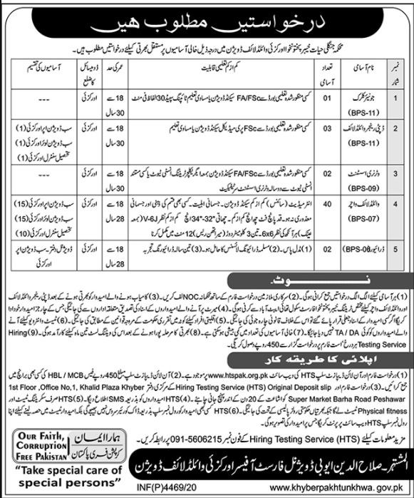 DFO Divisional Forest Officer Orakzai Wildlife Division Jobs HTS Roll No Slip