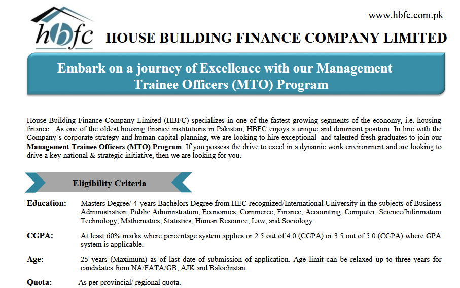 HBFC Management Trainee Officer NTS Test Roll No Slip